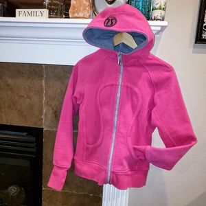 LULULEMON PINK SCUBA FULL ZIP HOODIE SWEATER